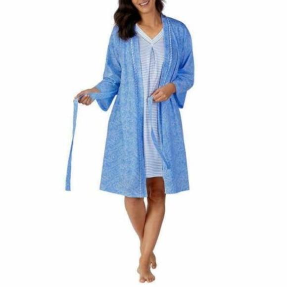 Midnight by Carole Hochman Other - Carole Hochman Womens Chemise Nightgown Robe Set 2